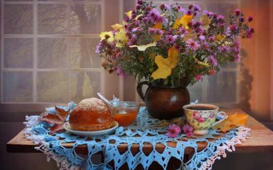 цветы, ноутбук, телефон, джем, chrysanthemum, mac, roja, ноябрь, абрикос, травы