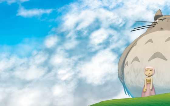 аниме, облака Фон № 7405 разрешение 3200x1200