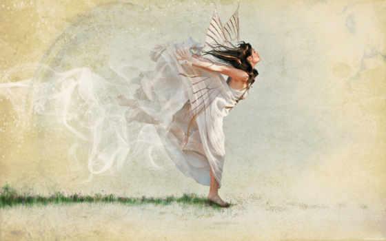 крылья, платье