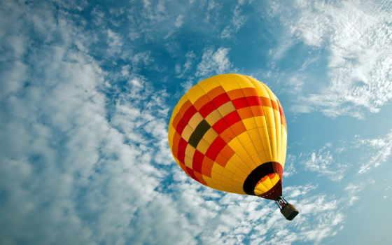 мяч, aerial, небо, спорт, воздушном, share,