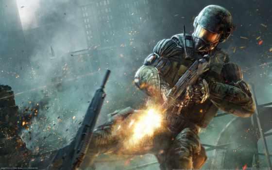 солдат, crysis, game