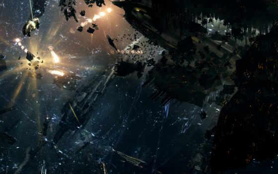 космос, бой, корабли