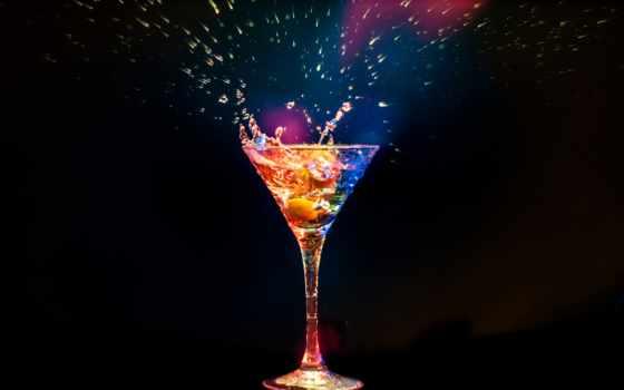 коктейль, glass, black, фотообои, напитки,