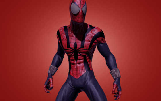 мужчина, паук, comics, marvel, red,