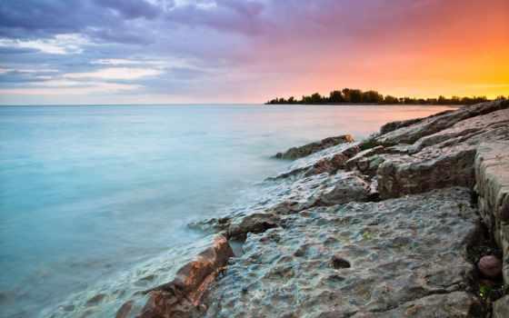 море, камни, water