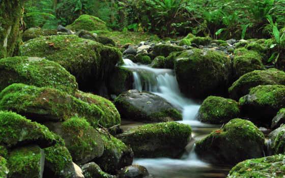 водопад,, красивые, ручей, природа,