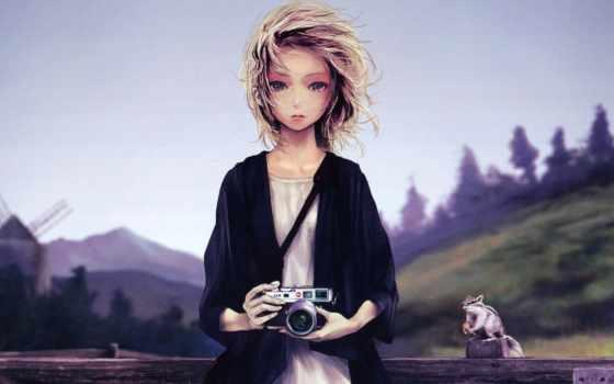anime, девушка, online,