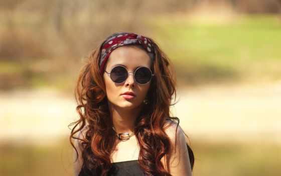 очки,девушка,хиппи,настроение,
