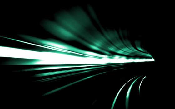 скорость, туннель, поворот, свет, абстракция,