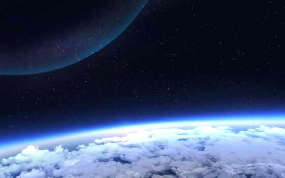 атмосфера, космос, cosmic, горизонт, ноутбук