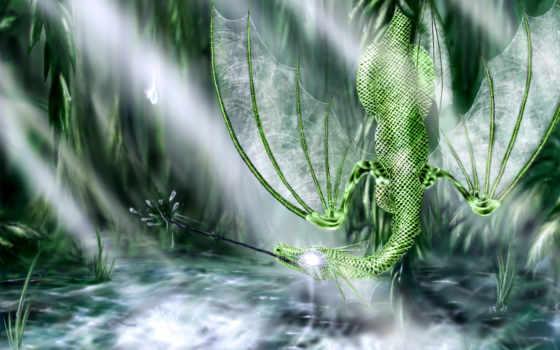 дракон, зелений