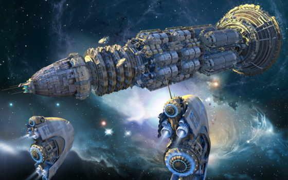 космос, фэнтези, корабли