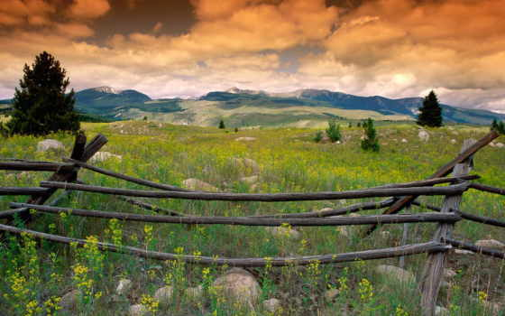 montana, mountains, об