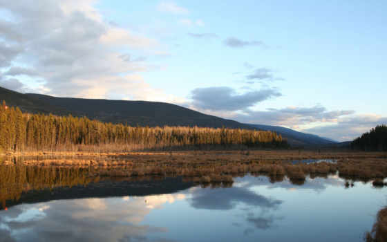 природа, озеро, rising, reki, осень, широкоформатные, категории, осеннее,