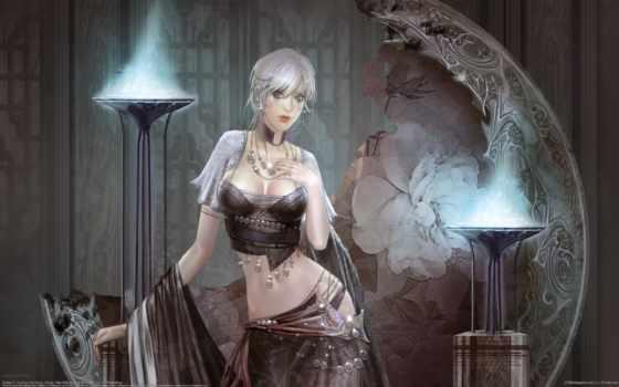 huang, dahong, девушка, art, fantasy, магия, кость, мужчина, ветошь,