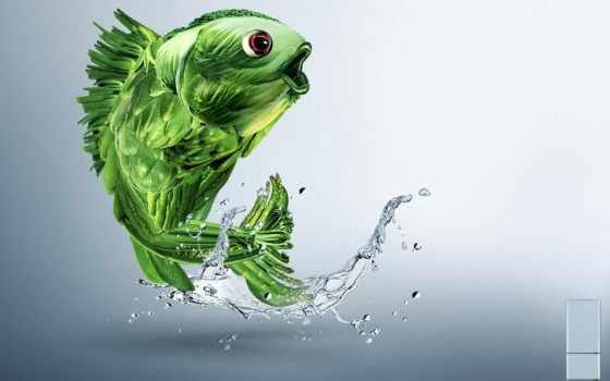 fish, графика, лучшая, коллекция, загружено, уже, pisces, desktop, собака,