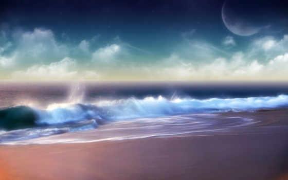 ocean, природа, бесплатные, живопись,