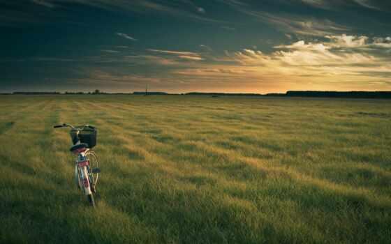 велосипед, природа