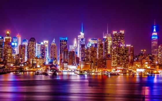 new, york, ecran, fond, город, fonds, les, ville,