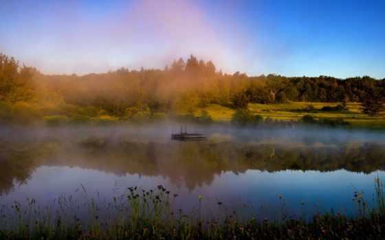 latvia, misty, река, туман, утро, природа, pictures, осень,