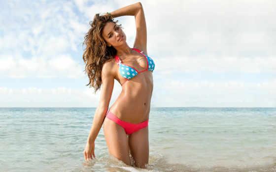 качать, irene, пляже, irina, bradley, пляж, италии, купальник, модель, июл,