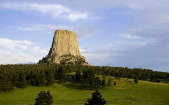 башня, devils, wyoming, national, памятник, hills, black, фото, чертовка, free,
