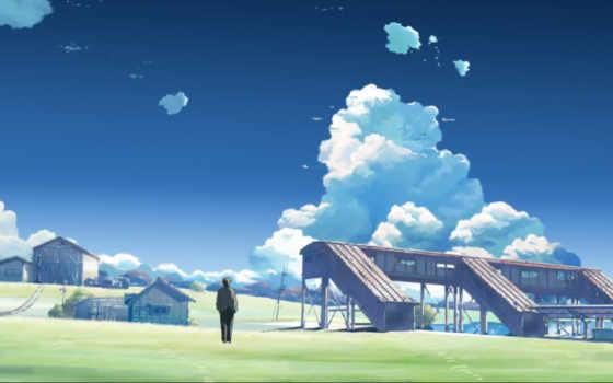 аниме, makoto, and, shinkai,