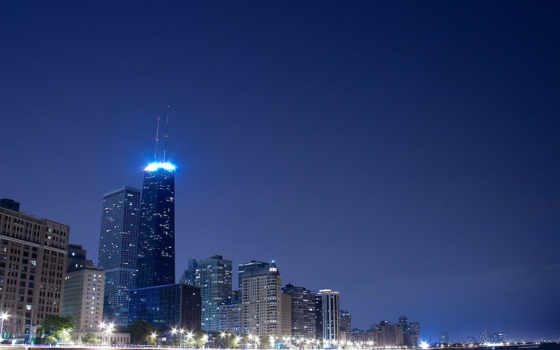 город, ночь, огни Фон № 50447 разрешение 1920x1200