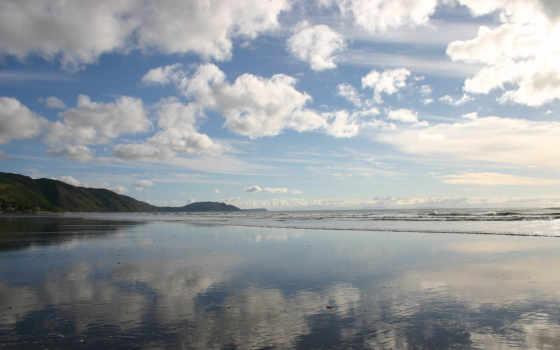небо, море, озеро