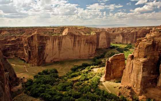 national, каньон, памятник, chelly, сша, горную, видимости, пилами,