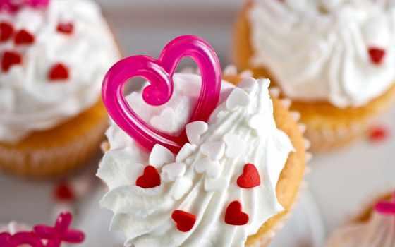 торт, мороженое, десерт, сердце, decoration, сердца, еда,