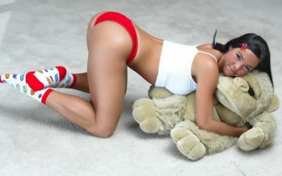 игрушкой, девушка, мягкой, devushki, sex, игрушки, фрида, мягкие, color, red,