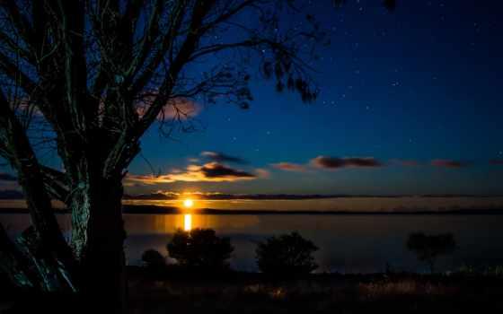 noche, naturaleza, fondos, atardeceres, amaneceres, австралия, нояб, everything, ríos, стоящие,