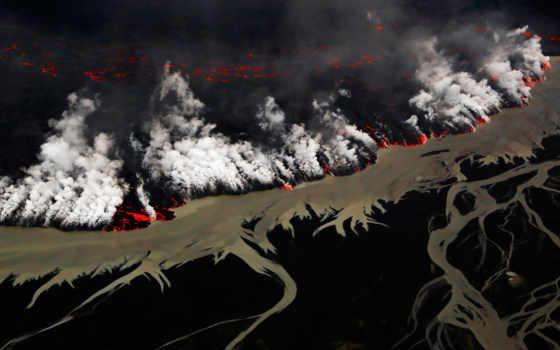 holuhraun, вулкан, извержение, iceland, national, park, опционы, опционов,