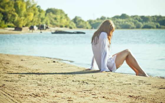 девушка, лето