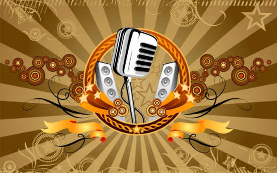микрофон, музыка Фон № 16336 разрешение 1920x1200