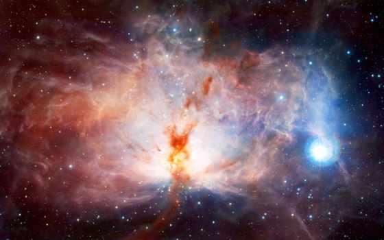 туманность и звезды