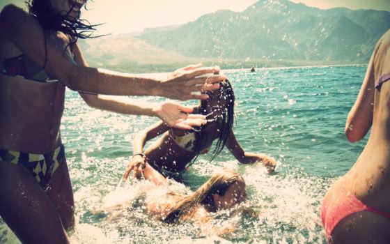fun, summer, брызги