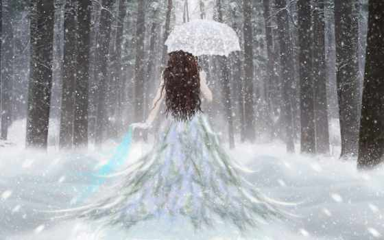 winter, девушка, снег Фон № 123750 разрешение 1920x1200