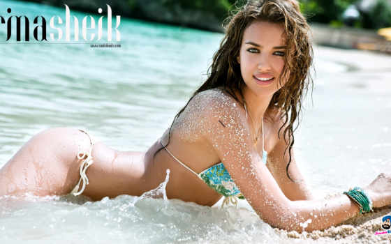 irina, shayk, sports, illustrated, купальник, фон,
