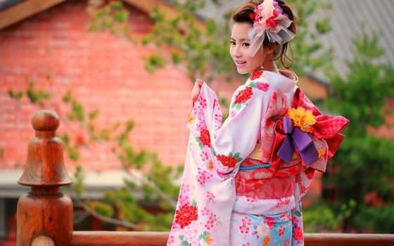 japanese, кимоно, девушка, summer, лицо, стиль,
