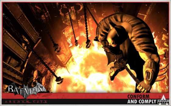 batman, arkham, город, xbox, tema, гра, les, free,