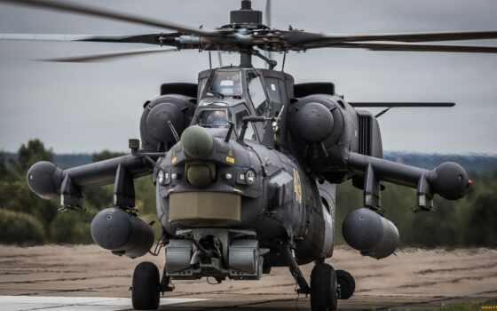 ми, hunter, ночь, вертолет