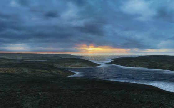 sunset, nature Фон № 10571 разрешение 1920x1200