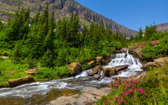 горная река Фон № 102959 разрешение 1920x1200