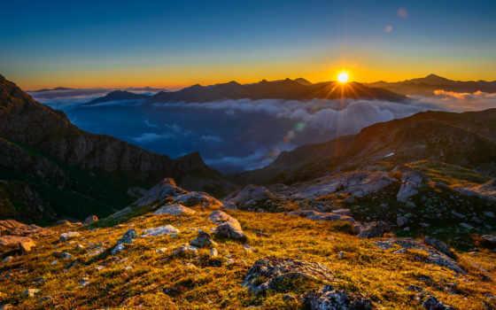 небо, горы, гора, разрешения, awesome, высокого, canyons, арка, sunlit,