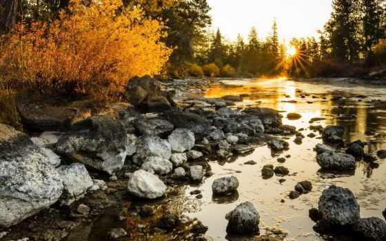 солнца, природы, красивыми, закатами, красивые, природа, rays, озеро, sun, утро,