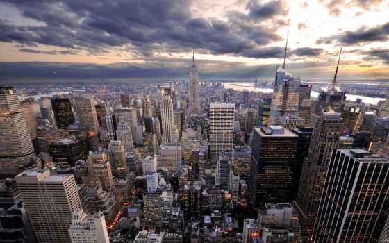 york, нью, new, город, небо, небоскрёб,