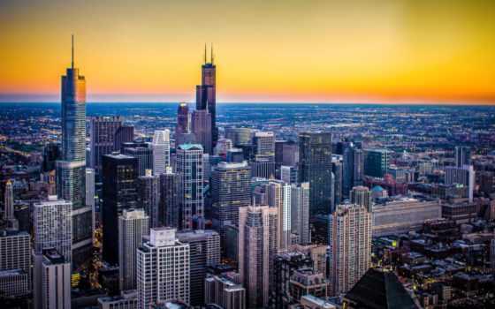 chicago, город, иллинойс, desktop, height,
