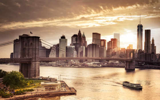 американский, сша, торгуем, америке, нью, небоскребы, york, Нью-Йорк, манхэттен